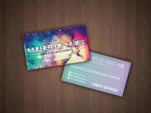 Business Card Loja Mulher de Fases