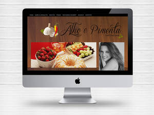 Layout blog Alho e Pimenta