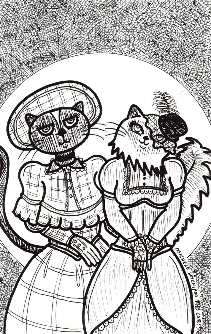 Victorian Cats August 2018 by MicheleWitchipoo