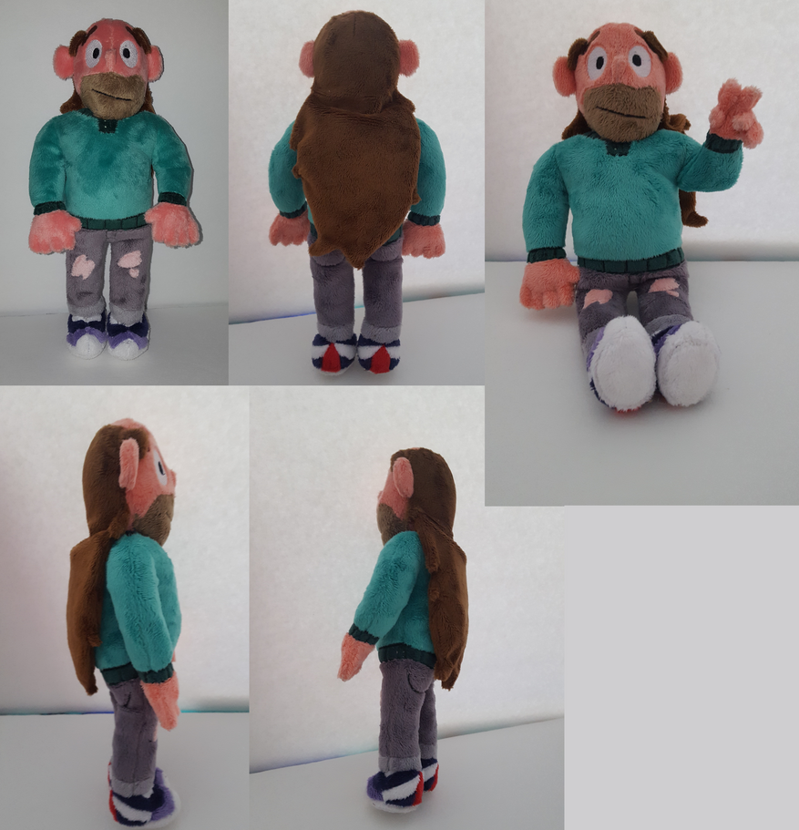 This is a commission and is not for sale! Greg is 12 inches tall, made of minky fabric with machine embroidered details. Steven Universe and Greg belong to Rebecca Sugar and Cartoon Network! The pl...