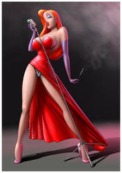 Jessica Rabbit Pin-up by Dominicabra