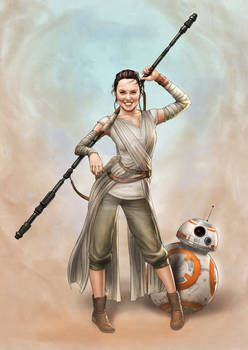 Daisy Ridley as Rey (Star Wars)