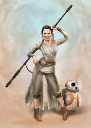 Daisy Ridley as Rey (Star Wars) by Dominicabra