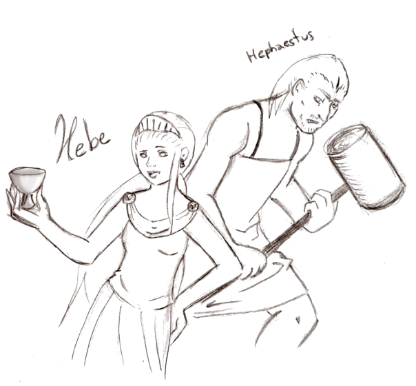 Hebe and Hephaestus by Amarantis