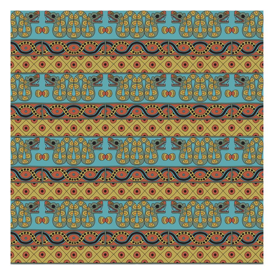 aztec pattern color by daisyke