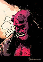HELLBOY's Beautiful Mug by TheWoodenKing