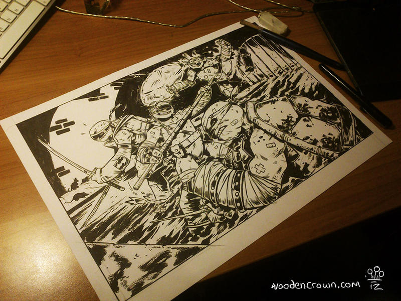 TMNT commission by TheWoodenKing