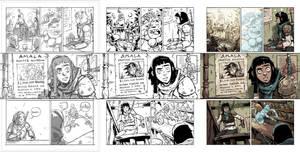 AMALAS BLADE #1 page4 process.