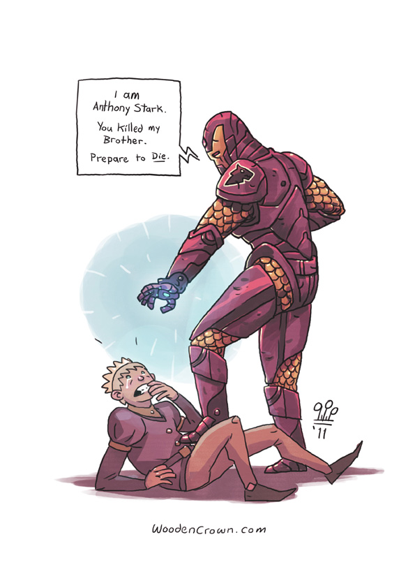 Anthony Stark pays Joffrey a visit! by TheWoodenKing