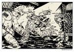 TMNT vs Slash! commission.