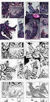 AMALAS BLADE #3 page12-13 process.