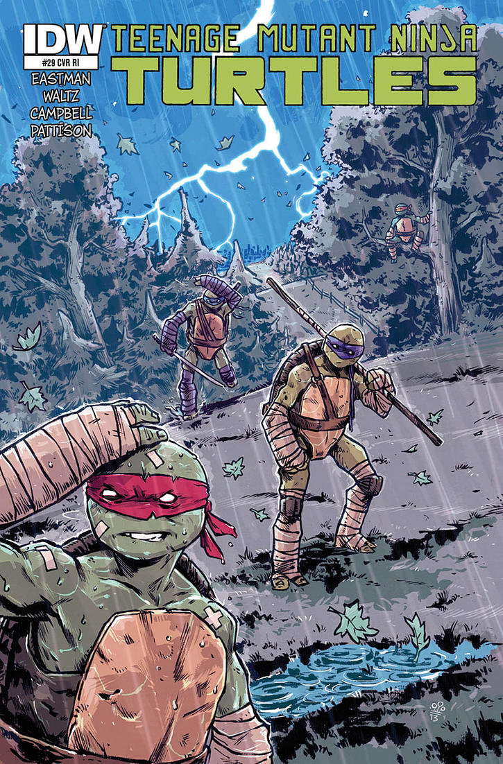 TMNT #29 Variant Cover by TheWoodenKing