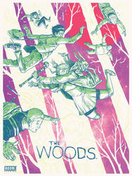 THE WOODS Limited screen print by Secret Panel