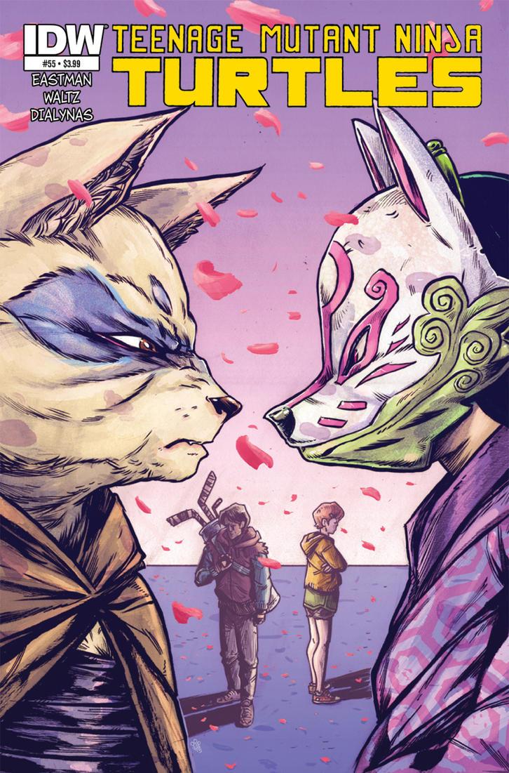 Teenage Mutant Ninja Turtles #55 COVER by TheWoodenKing
