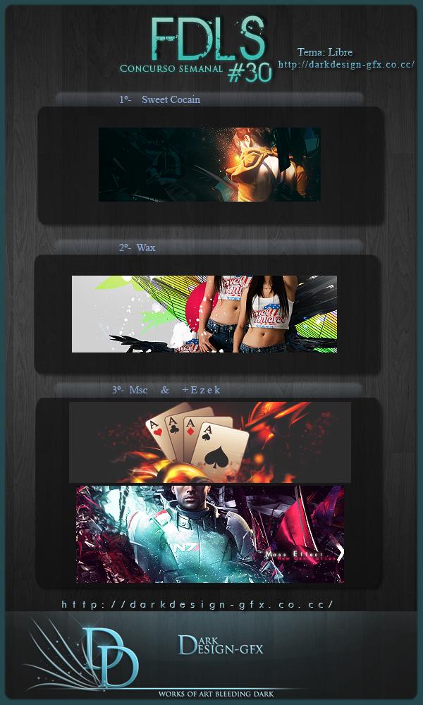 Ganadores 30 FDLS by darkdesign-gfx
