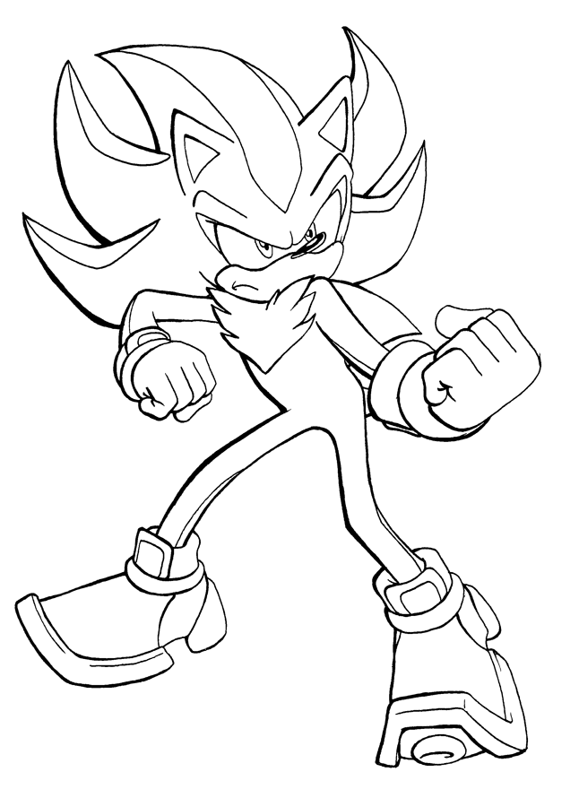 coloring pages of shadow the hedgehog | Shadow the Hedgehog pose by adamis on DeviantArt