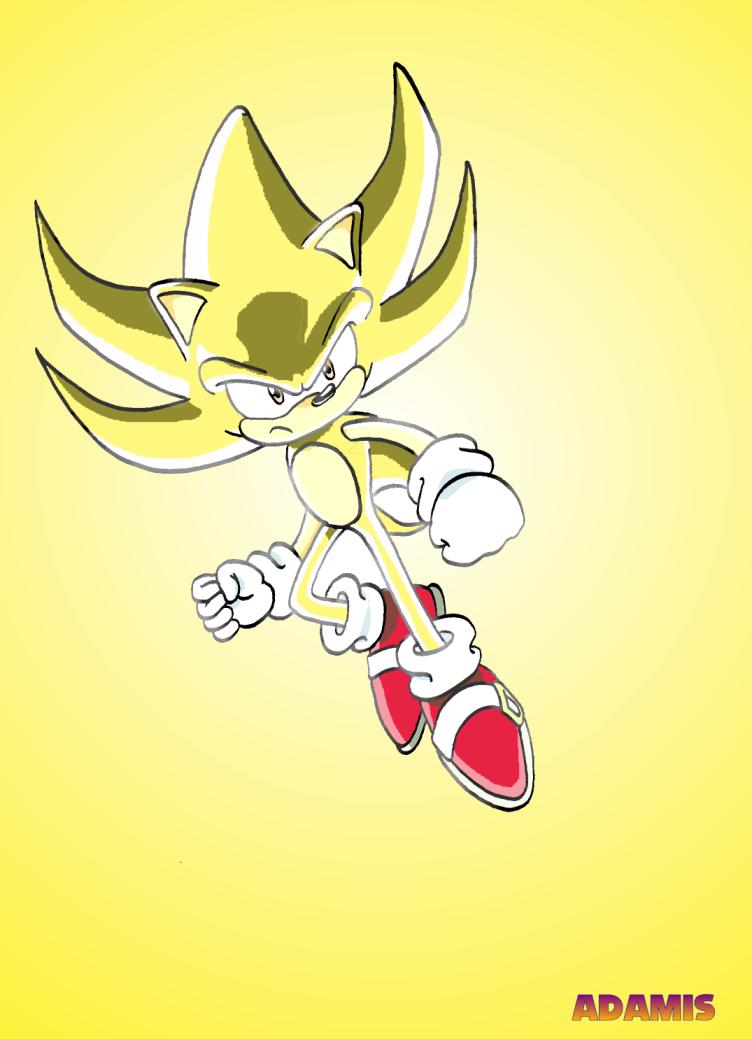 Super Sonic Sonic X version by ThePandamis on DeviantArt