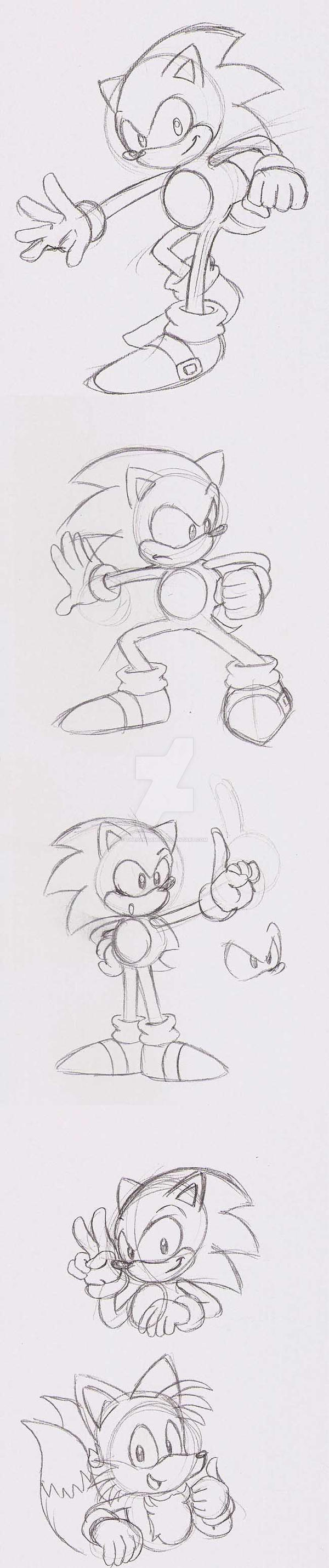Classic Sonic Poses By Thepandamis On Deviantart