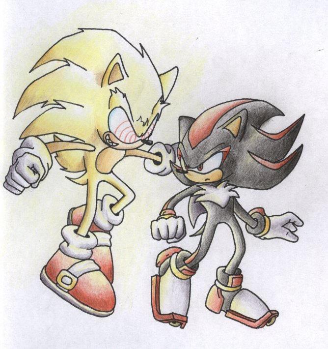 StC Super Sonic VS Shadow by ThePandamis on DeviantArt