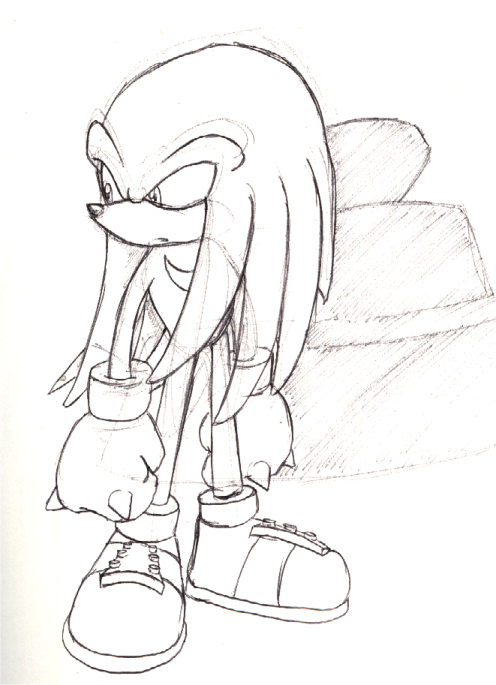 Knuckles sketch by ThePandamis on DeviantArt