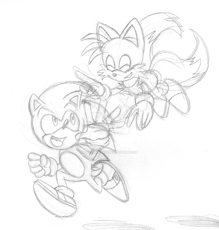 dd modern sonic and tails by thepandamis on deviantart