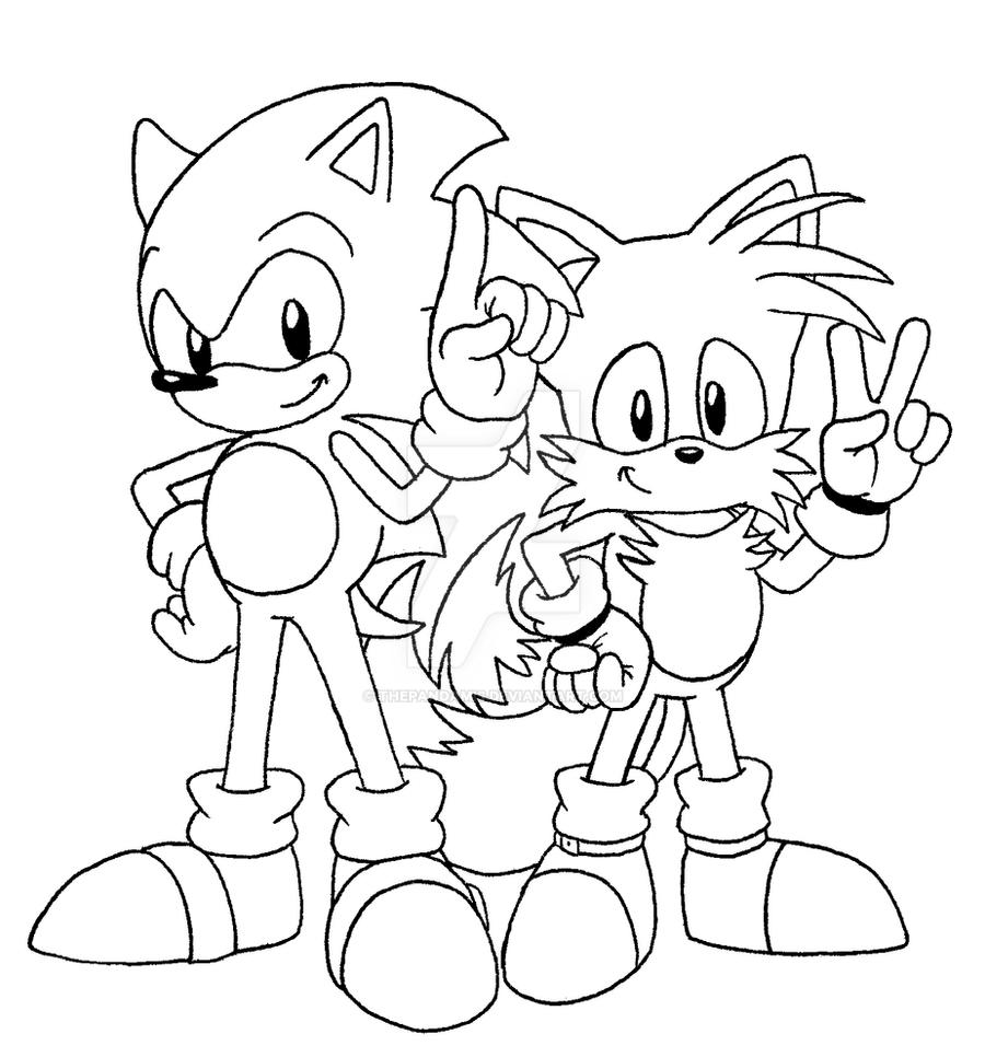 DD: Classic Sonic and Tails BW by ThePandamis on DeviantArt