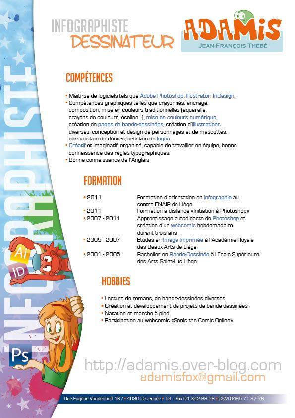 Graphic designer resume by ThePandamis on DeviantArt