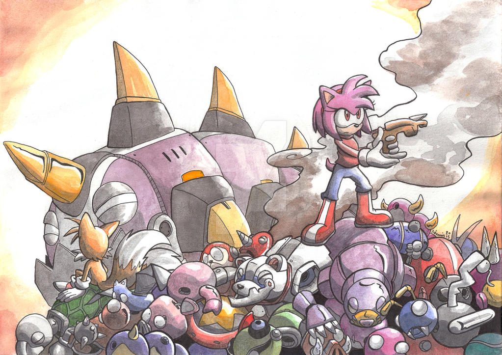 StCO 270 - Amy Rose watercolors by ThePandamis