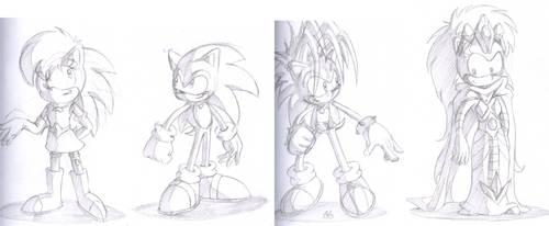 Sonic Underground: hedgehogs by ThePandamis