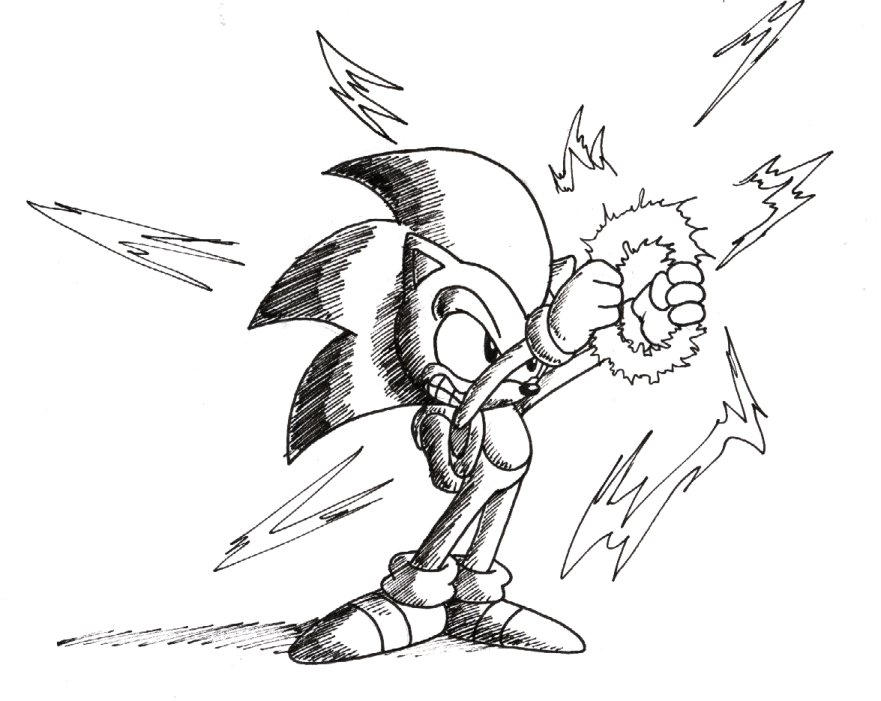 sonic satam coloring pages - photo#27
