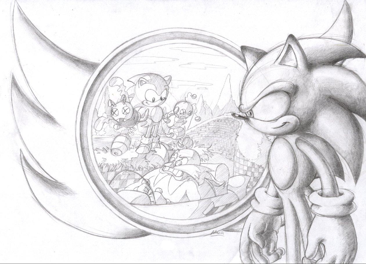 Happy 15th birthday, Sonic by ThePandamis