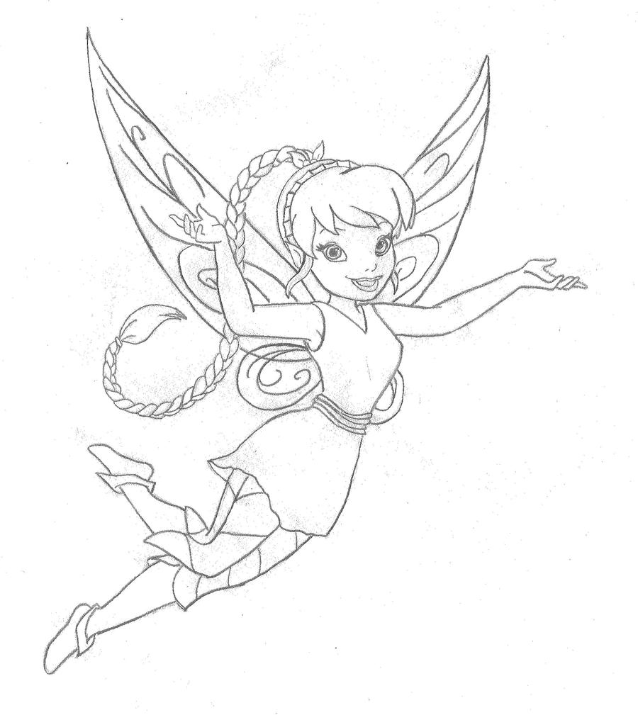 i love tinkerbell coloring pages - photo#40
