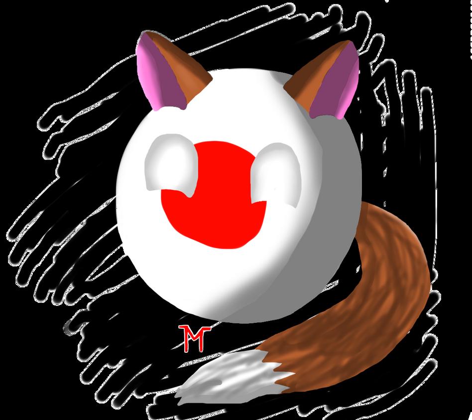 Neko Japanball by Morshute