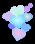 Corazones multicolor