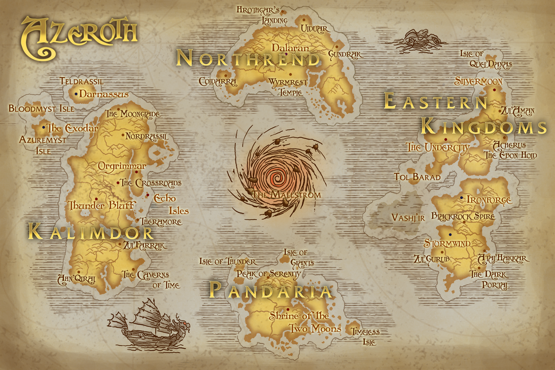 Map Of Azeroth Map of Azeroth by Rehlyihmah on DeviantArt