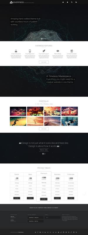 evenness | Multi-Purpose WordPress Theme