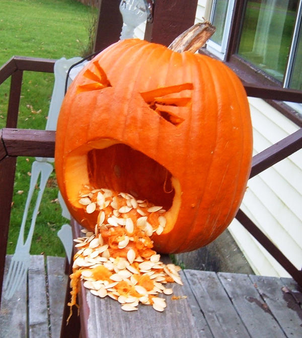 Puking pumpkin by museofmemory on deviantart