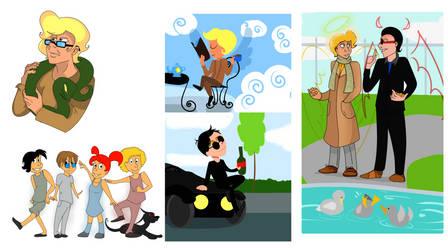 Good Omens stuff by Shokly