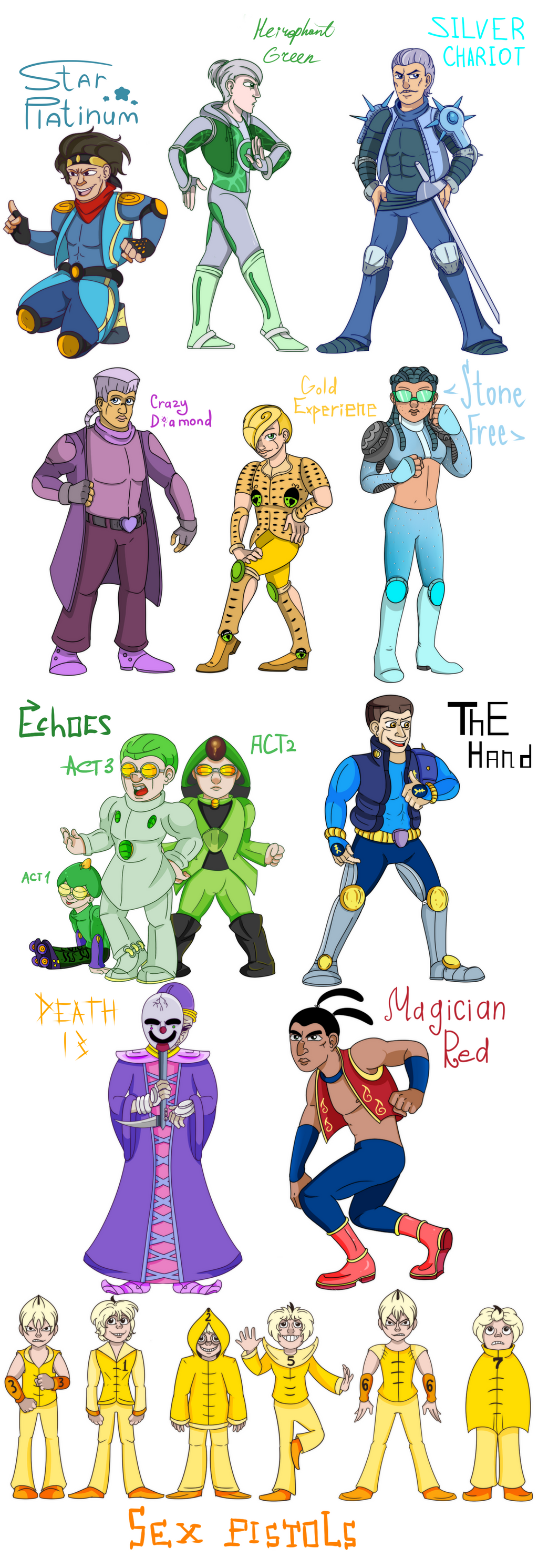 Jojo STANDS adventures by Shokly on DeviantArt