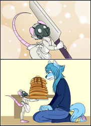 DMMD furry: Dog Aoba -n- Mouse Clear by Shokly