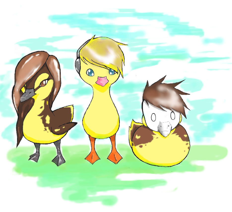 PewDiePie, Marzia, and Cry as ducks (on tablet) by ...