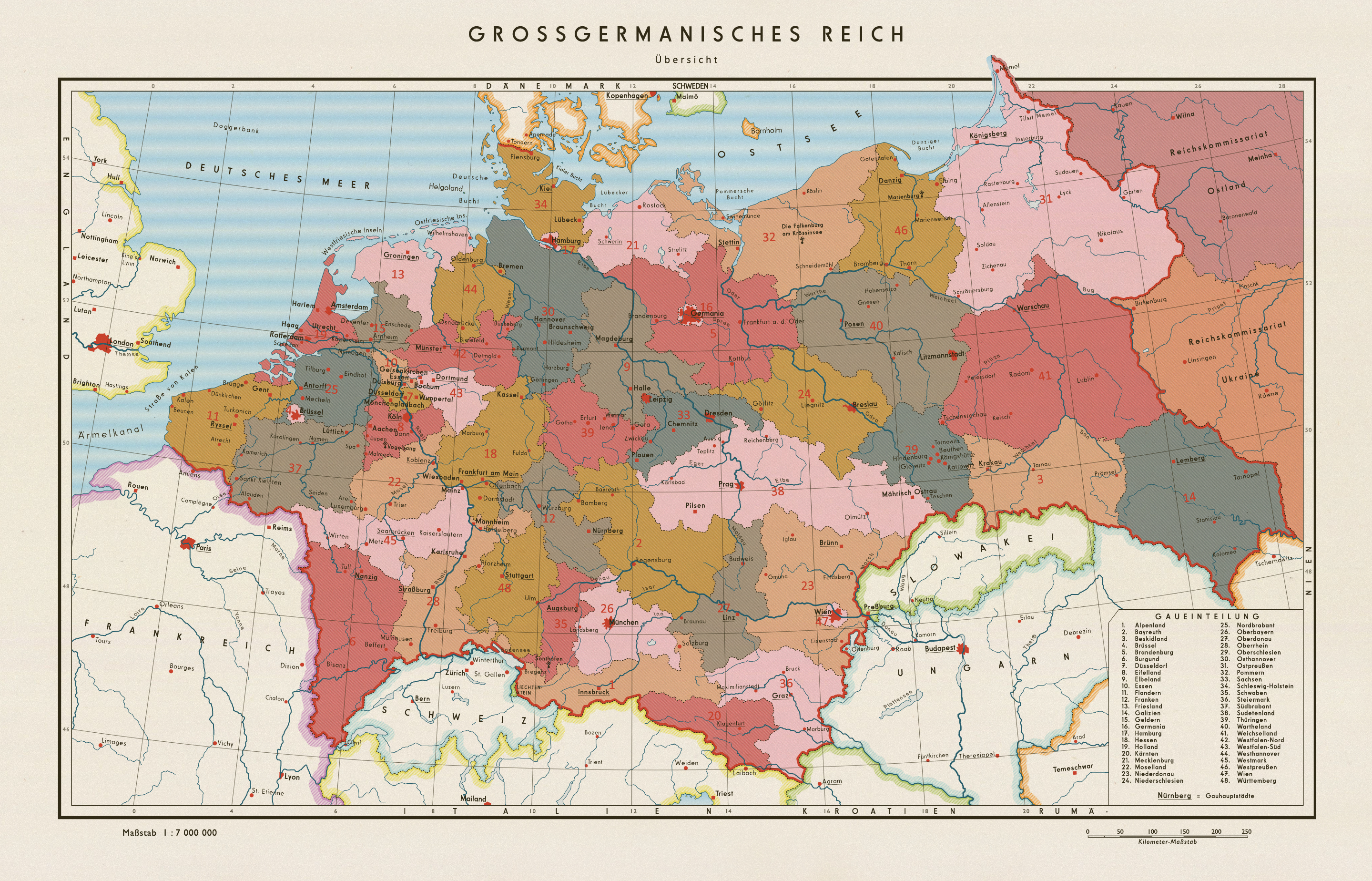 Map Of Germany During World War 2.A Map Of Post World War Ii Germany In A Scenario Where The Nazis Won