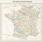 France: regions, provinces and railways