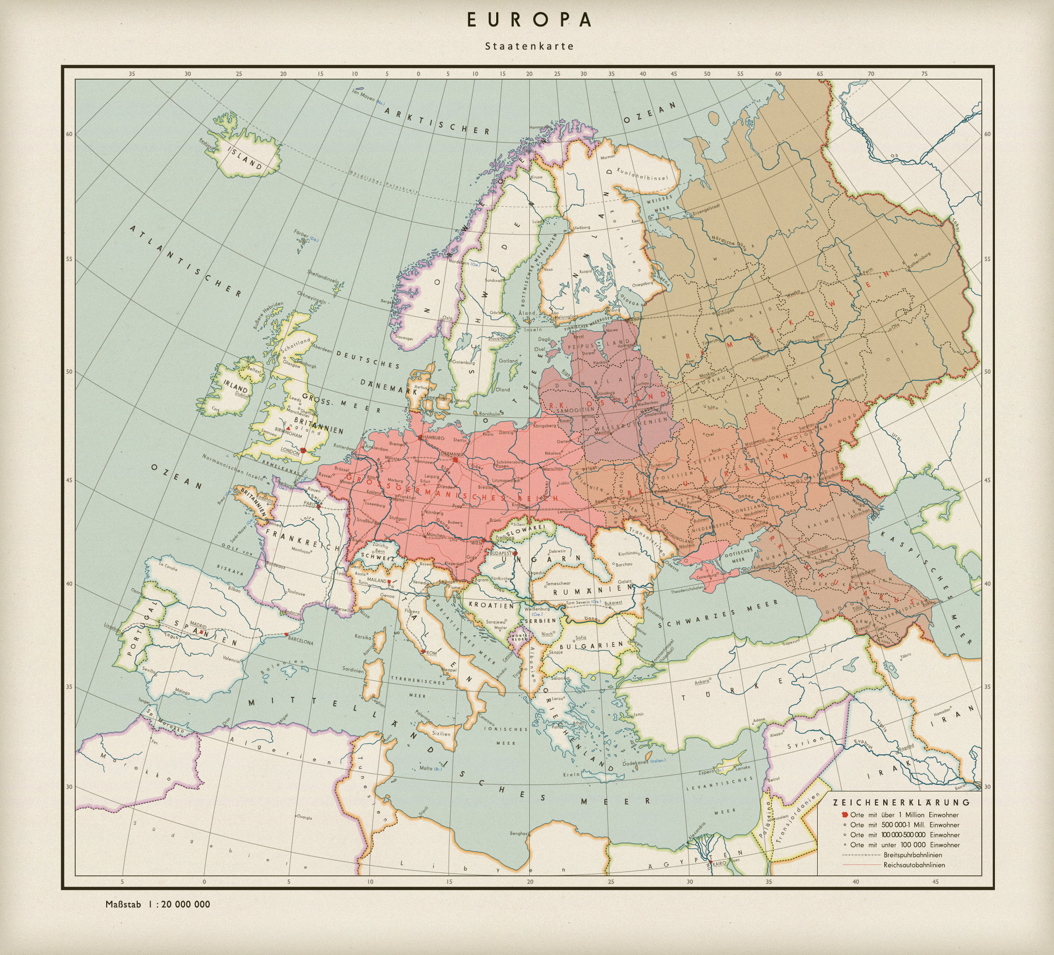 a fictional map of a german dominated post ww2 europe 2105 x 1909