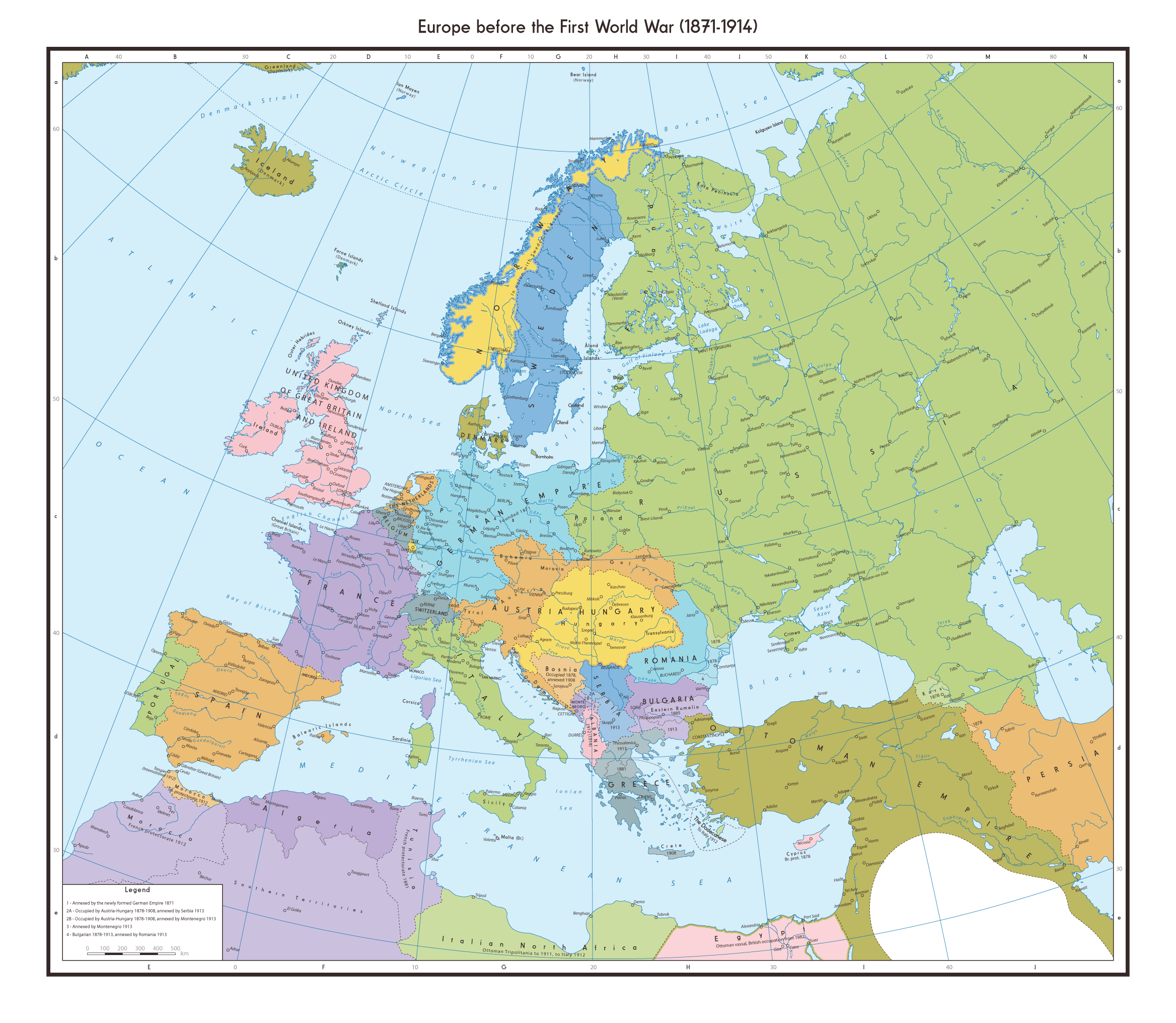 Europe Before The First World War (1874 1914) By 1Blomma [2336x2032] ...