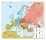 Linguistic map of Europe