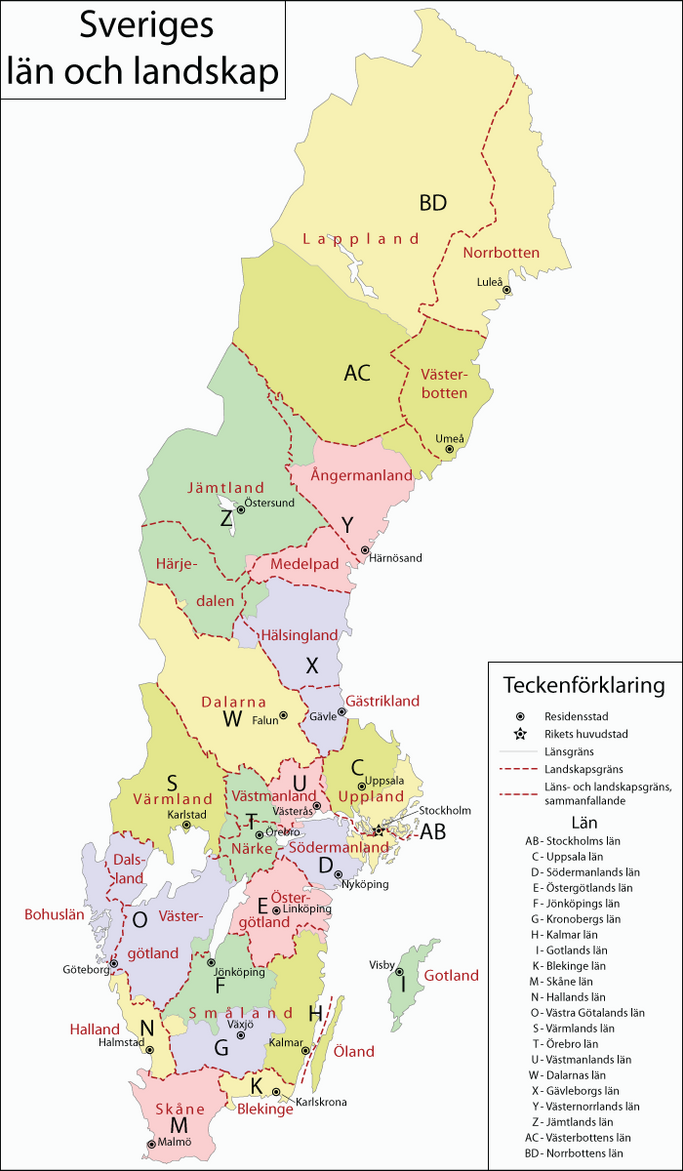 Sverige Sweden By Blomma On DeviantArt - Sweden map län