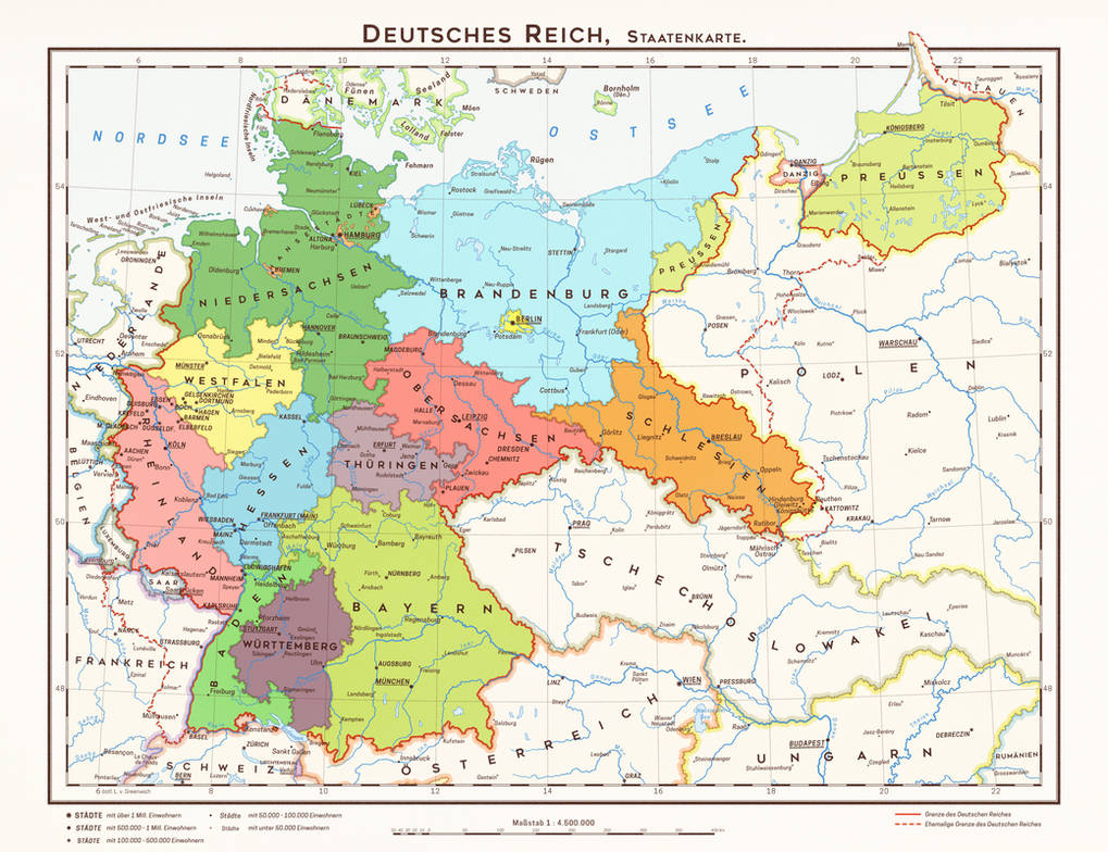 Map Of States Of Germany.Hugo Preuss States Of Germany By 1blomma On Deviantart