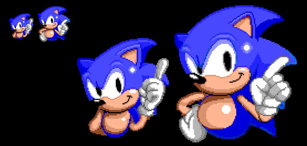 Sonic Mania x Sonic The Hedgehog (Pixel Art) by DarkTremor100 on