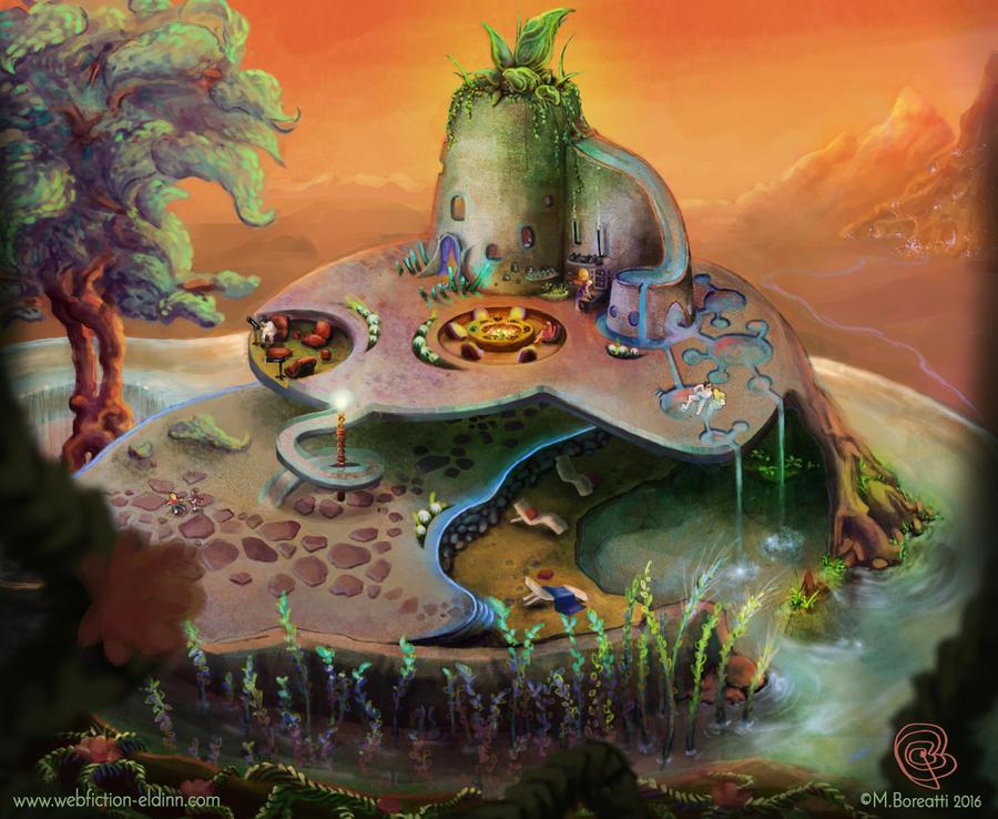 Moe Illustrations  The_tiny_house___une_pitite_maison_by_boreatti-da5gy4h